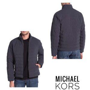 Michael Kors Men's Grey Fulton Front Zip Jacket